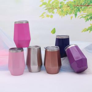 أزياء الماس شكل البيض الكؤوس الفولاذ المقاوم للصدأ المتأنق البهلوانات الحفاظ على كوب ماء النبيذ كوكتيل شعبية القدح 24zx k1