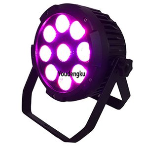 8pcs 9x18W RGBWA + UV 6in1 extérieur sans fil de la batterie d'alimentation Led Par scène batterie d'éclairage LED étanche Par lumière