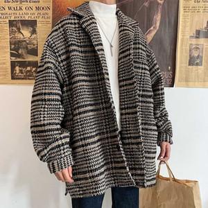 2020 UYUK Thousand New Winter Bird Case Cloth Coat With Temperament Fashion Men's Casual Loose Masculino Hombre