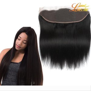Lace Frontal Closure Ear To Ear 13x4Size Peruvian Straight Frontal Malaysian Indian Brazilian Cambodian Virgin Human Hair Top Lace Frontal