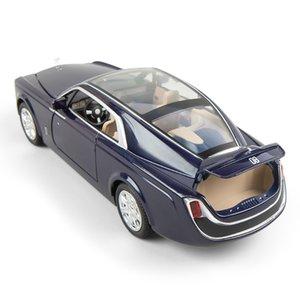 01:24 هوى ينغ لعبة Vehicl سبيكة مضيئة فانتوم دييكاست كيد نوع السيارة الصوت العجلات الخفيفة رويس السيارات العودة بوي سحب رولز لعبة T200110 Xemsa