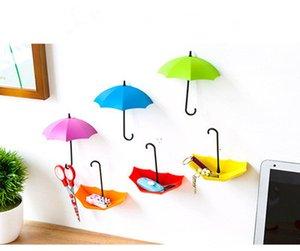 La nouvelle belle forme de parasol Creative Key Hanger rack Support mural décoratif Crochet Cuisine Organisateur accessoire de salle