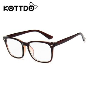 Wholesale- Eye Glasses Frame Women Fashion Retro Plastic Eyewear Optical Glasses Frame Uv400 EyeGlasses Frames Men