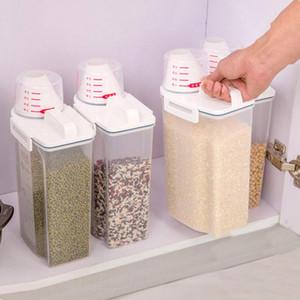 Cereal 2L plastica dispenser Storage Box Cucina Riso Container Nizza