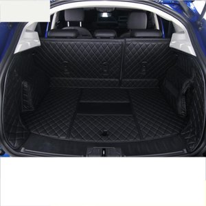 For E -Pace Leather Car Trunk Mat Cargo Liner 2017 2018 2019 Rug Carpet Accessories Styling Wearable Durable