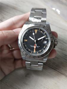 Hot VENTE Homme montres haut style millésime montre de qualité en acier inoxydable bande cadran noir montres-bracelets R28