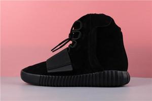 HOT 750 luz goma cinza brilhante preto Kanye West sapatos tênis de basquete sapatos desportivos 750 homens e mulheres de couro ao ar livre botas quentes