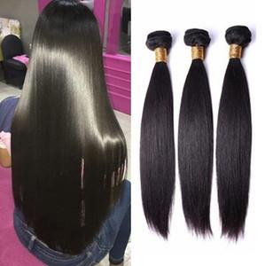 Peruivan Malaisien Indien Brésilien Bonds Bundles Straight Head Hair Weave 3PCS Extensions de cheveux Double trame