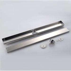 삽입 타일 바닥 드레인 욕실 발코니 부엌 60cm 또는 80cm 304 스테인레스 스틸 스트레이너