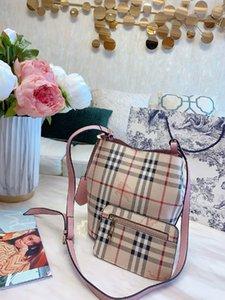 Women's Single shoulder bag Classic trend Soft and delicate Trellis Large capacity bucket bag 8ZAR DF2W