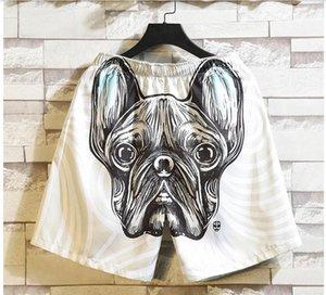 Yeni Vintage Hipster Pug Dog With Gözlük Ve Bow Yaz Plaj Şort Streetwear Erkekler Kurulu Tatil Şort Casual Hızlı Kuru
