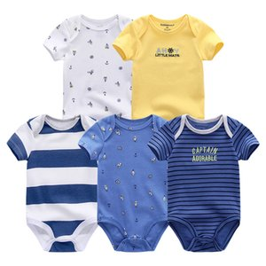 5pcs lot Boys Girls Romper Roupas De Bebe Cotton Newborn Infantil Jumpsuits Pajamas Baby Clothing Kids Clothes Q190520