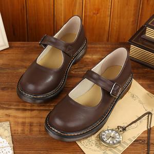 소녀 메리 제인 신발 클래식 버클 신발에 고유 한 컬러 드레스 아파트는 소 근육 단독 신발 zy664을 여자