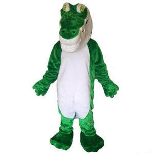 костюм талисмана крокодила EMS свободная перевозка груза, высокомарочная партия масленицы Причудливый плюш гуляя крокодиловый талисман взрослый размер.