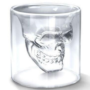 Copa de vino cráneo vidrio de tiro cerveza whisky Halloween decoración creativa fiesta transparente vasos para beber 25 ml tazas LXL76-1