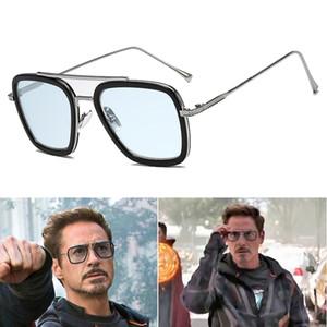 Модные Мстители UV400 Солнцезащитные Очки Tony Stark Flight Style Мужчины Квадратный Дизайн Бренда Солнцезащитные Очки cuculos De Sol Ретро мужской