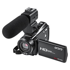 Camcorder Digital Câmera de vídeo Full HD WiFi Ordro V7 Plus 16x Zoom Night Vision Videocamara Filmadora Support Microfone