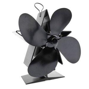 4 Blades Thermal Power Fireplace Fan Heat Powered Wood Stove Fan Log Wood Burner Ecofan Home Fan Efficient Heat Distribution