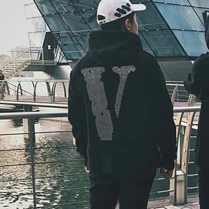 19ss Parlak elmas Hoodies Sweatshirt Moda Erkekler Kadınlar Sokak Mektupları Çift Casual Sweatshits Üst Kalite Dünya HFHLWY012