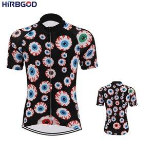 HIRBGOD jersey cycling 2019 Men Short Sleeve Quickdry Cycling clothes corlorful Cartoon eyes Ropa Short Top, STYZ050