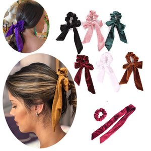 Fashion leisure Bowknot rubber band set flannelette head rope Lovely restoring ancient ways Korean ribbon tie hair large intestine hair ring
