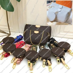 Designer di lusso Multi Purses colorato Set Ribbon spalla borsa monogramma cinghia SUPERIORE Canvas Handbag Zippy Coin rotonda Zipper Denim Marsupio