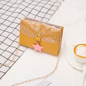 Bag female 2020 Korean version of the new chain small square bag shoulder messenger fashion lock female mini