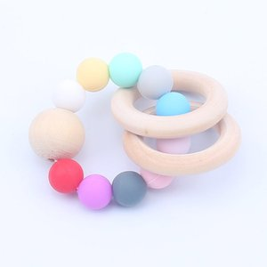 Hot search cute baby teether bracelet Infant teether children silicone teether molar toy