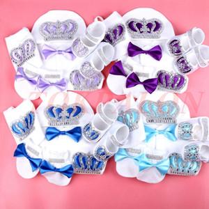 0-3 Mese Neonato Vestiti per neonato Ragazzo Baby Yougsuit Cotton Rhinestone Crown Jurk Ribbon Jurken Bianco Jurkje Pigiama Set ragazzo