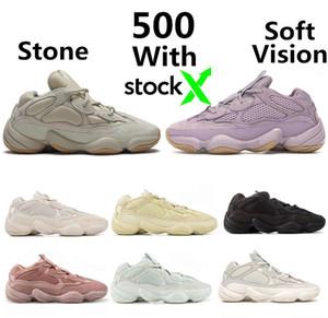 Yeni Geliş Yumuşak Vizyon taş çöl faresi 500 Koşu Ayakkabı kemik beyaz 500s Yardımcı Siyah Tuz süper ay sarı Erkek Spor spor ayakkabıları eğitmenler