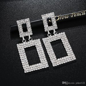 Fashion Jewelry long earrings for women hoop earring stud with Full Shiny Cubiz Zircon female earring,1pz