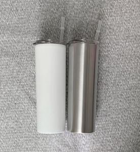 ücretsiz kargo A12 için 20 oz DIY Isı Sublime Skinny Tumbler çift Paslanmaz Çelik şişe Yalıtımlı Konik Tumbler
