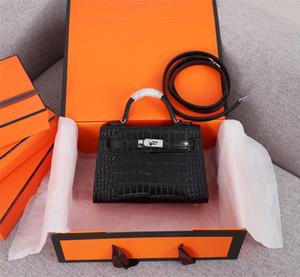 Classic Designer Women Handbags Shoulder Bags Style Mini Strap Crossbody Tote Purse High Quality Genuine Leather Handbag Crocodile pattern