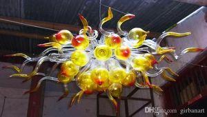 Mini Modern candelabro de cristal para a decoração Home Lâmpadas LED Atacado Hand Blown Art Glass bolha Chandelier