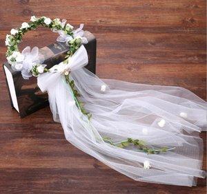 Guirnalda de la flor coreana Headwear del velo de pelo Banda Dulce Inteligente Accesorios para el cabello joyería de la boda Accesorios de boda vestido