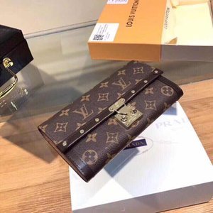 Wholesale bottoms wallet designer long wallet lady multicolor designer coin purse Card holder women classic zipper pocket clutch with box 27