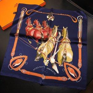 del diseñador Pequeño satén cuadrado de la bufanda del cuello de la bufanda del fular de Femme Bandana mujeres elegantes lazo del pelo de la venda del abrigo del pañuelo sjaal 50 * 50cm K876