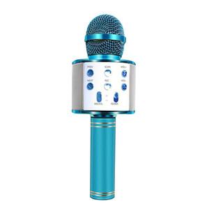 WS USB nueva WS858 de micrófono inalámbrico Bluetooth 858 Professional Speaker Consender teléfono móvil Ktv jugador micrófono música del expediente