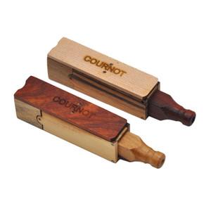 Tubos del cigarrillo del filtro de madera hecho a mano pipa portátil Mini Fold Tipo recto caliente de la manera Venta 13yh UU
