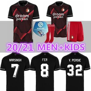 Tailandia 20 21 Feyenoord camiseta de fútbol 2020 2021 FER Berghuis JORGENSEN FEYENOORD KOKCU camisetas de los hombres + kids kit de camiseta de fútbol