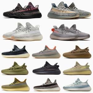 2020 Asriel azufre Israfil Kanye West Luz trasera Desert Sage Marsh lino lino estático reflexiva de los zapatos corrientes de los hombres de las mujeres zapatillas de deporte
