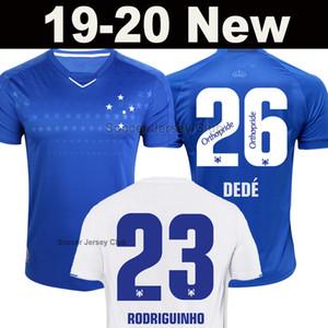 New Cruzeiro 2019 2020 홈 유니폼 풋볼 셔츠 RODRIGUINHO DEDÉ THIAGO는 SASSÁ FRED EGÍDIO LÉO에서 떨어져 축구 유니폼을 입고 19 20 태국 품질