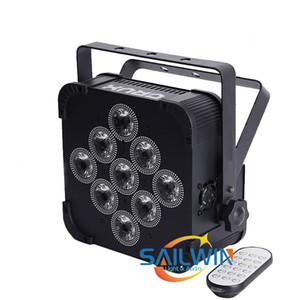 levou uplight inteligente Dj par bateria levou 9X18W RGBWA + UV bateria recarregar pilhas plana DMX wireless levou luz par