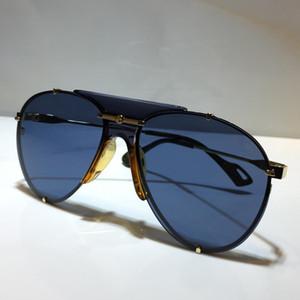 Nova moda 0740S óculos de design UV400 lente frameless tamanho oval com metal pequeno 0740 máscara óculos de sol de alta qualidade óculos populares