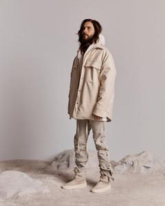 19FW temor de Dios 6 DE NIEBLA Negro Herramientas de gamuza chaqueta de la camisa de las mujeres de los hombres de la chaqueta de los pares de la calle del invierno ocasional floja de algodón caliente ropa exterior de color beige