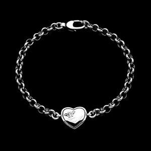 Yajin version of love carved Butterfly Bracelet