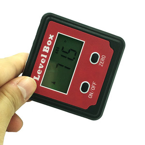 Red Precision digital protractor inclinometer Level box digital angle finder Bevel Box with magnet base