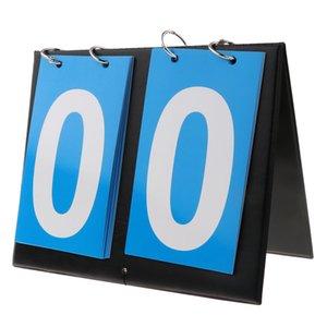 Waterproof Sports 2-Digital Scoreboard Table Top Flip Score Count Board for Basketball, Volleyball
