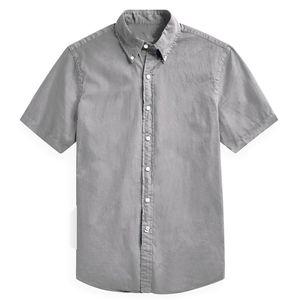 Designer men's Summer Short sleeved Dress shirts men casual POLO small horse shirts fashion USA Brand RL Oxford fashion