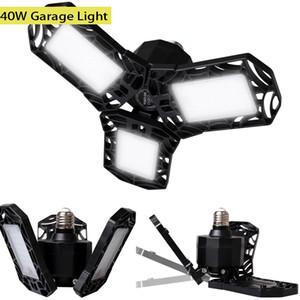40W Garage Light UFO Deformation 85-265V 4000LM 6500K ABS Lamp E27 B22 Base Deformable Garage Lighting Industrial Lamp